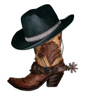 Bottes de cowboy et chapeau
