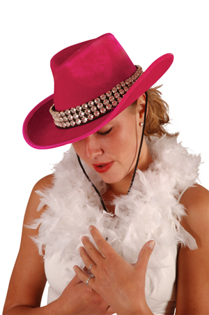 Chapeau cow girl sexy avec strass