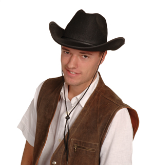 Chapeau de cowboy et veston