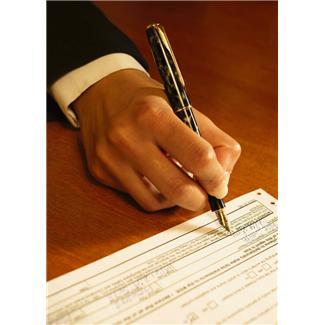 Signature d'un pacte civil de solidarité