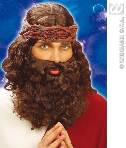 Perruque et barbe de Jésus