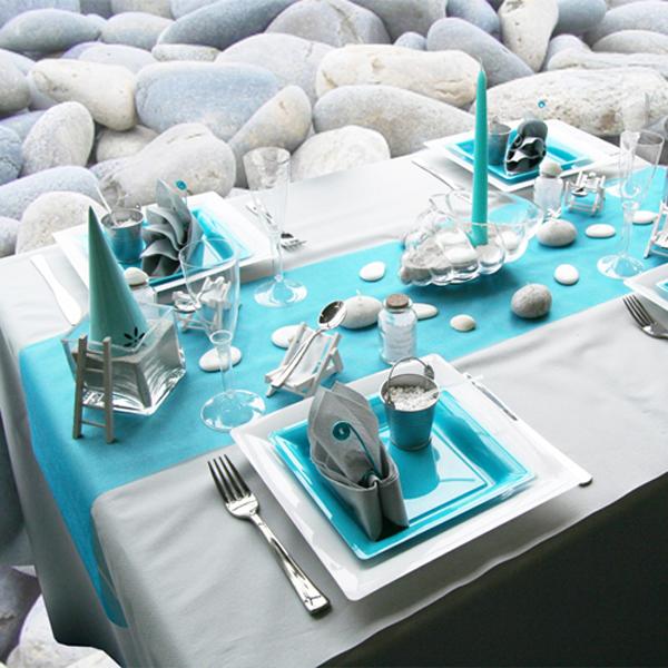 Decoration De Table Turquoise Galet Decorations Fetes