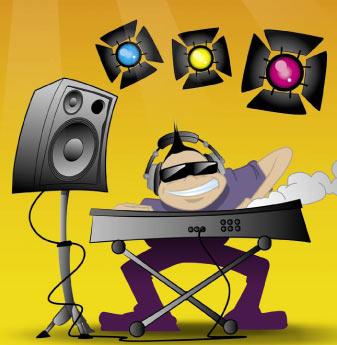 DJ en plein mix