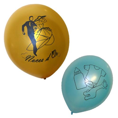 Ballons avec sérigraphie