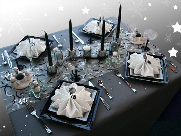 Décoration de table Flocons de Noël