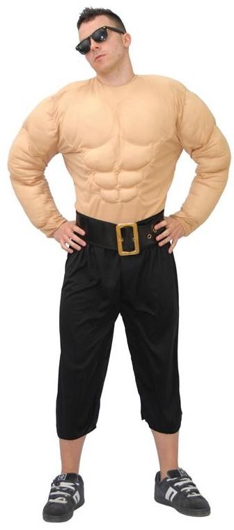 Déguisement humour, costume de mr muscle