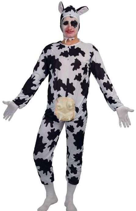 Déguisement humour, costume de vache