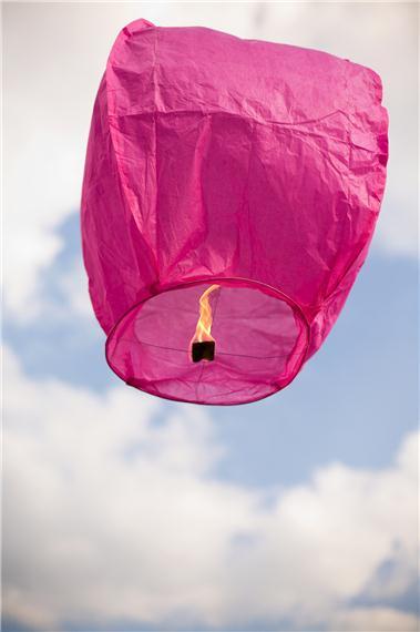 Lanterne volante thaïlandaise, couleur rose