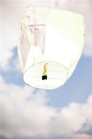 Lanterne volante thaïlandaise, couleur blanche