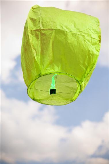 Lanterne volante thaïlandaise, couleur verte
