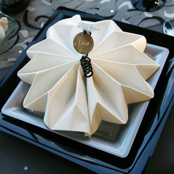 Décoration De Table Noël Gris Noir Blanc Décorations Fêtes