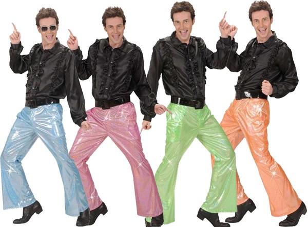 Déguisement Disco, Pantalon holographique, taille M