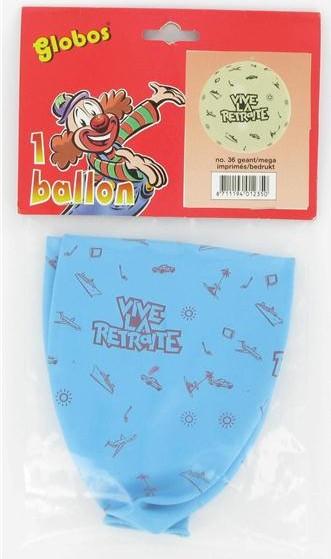 Ballon géant Vive la Retraite