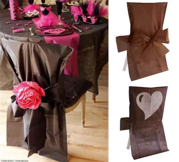 Housse de chaises, chocolat