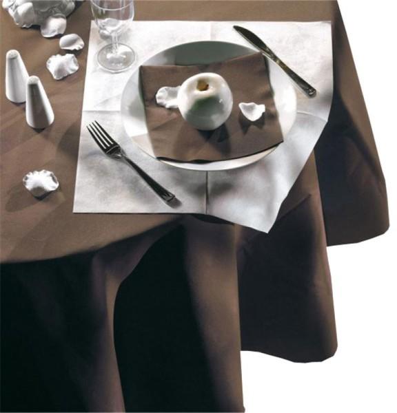 Nappe ronde unie chocolat
