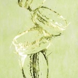 Chemin de table macaron, vert anis