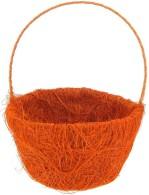 Panier à pétales sisal, orange