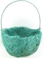 Panier à pétales sisal, turquoise