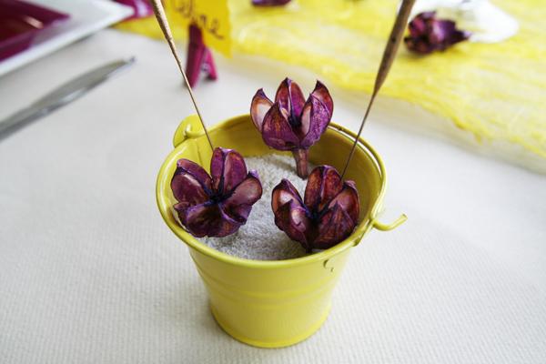 D coration de table anniversaire jaune gris prune - Petits plats pour grandes tablees pdf ...