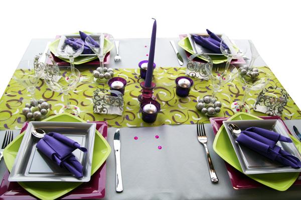 D coration de table anis violet gris d corations f tes - Vert anis et gris ...