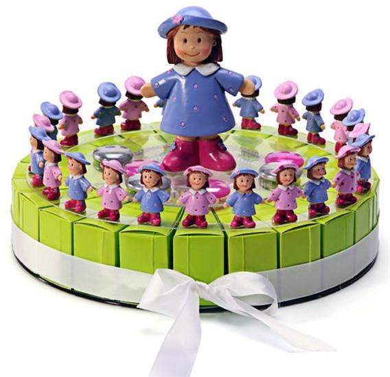 Gâteau à dragées 24 parts, thème Capucine