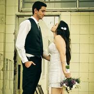 Photo de couple (usine désaffectée)