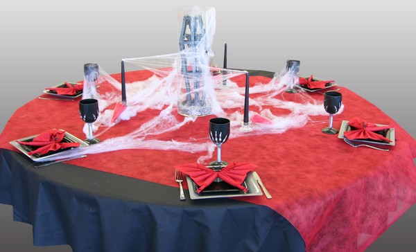 D coration de table halloween rouge et noir d corations - Decoration table anniversaire rouge et noir ...