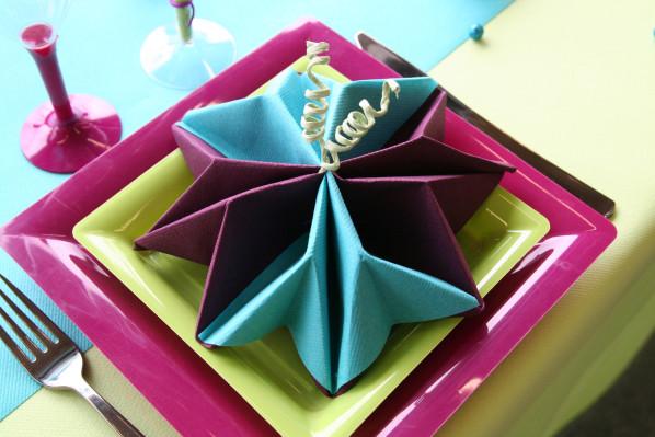 Décoration De Table Prune Turquoise Et Anis Décorations Fêtes