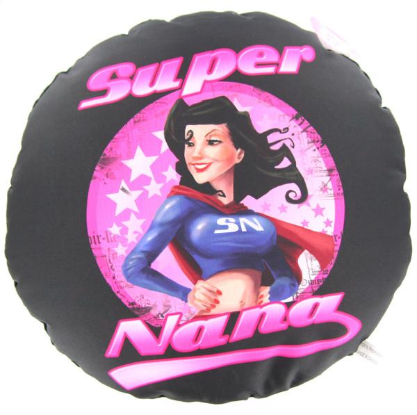 Coussin noir Super Nana