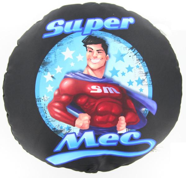 Coussin noir Super Mec