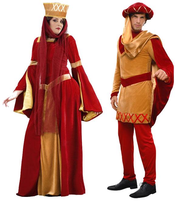Déguisements de duc et duchesse du Moyen-âge