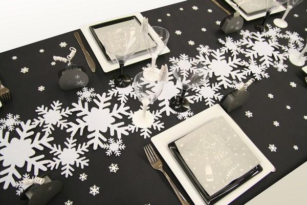 Decoration De Table Noel Flocons De Neige Decorations Fetes