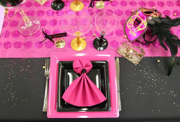 d coration de table sp cial carnaval d corations f tes. Black Bedroom Furniture Sets. Home Design Ideas