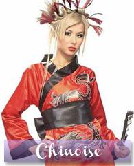 Déguisement de femme chinoise