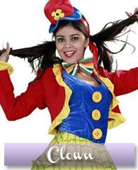 Déguisement de femme clown