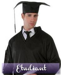 Déguisement 3 en 1, juge, prêtre et étudiant