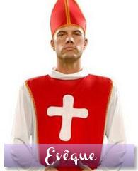 Déguisement d'évêque cardinal