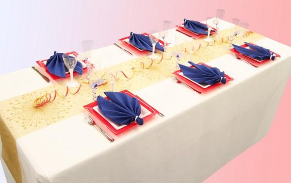 d coration de table 14 juillet bleu blanc rouge d corations f tes. Black Bedroom Furniture Sets. Home Design Ideas
