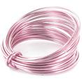 Bobine de fil métal alu 5m, rose