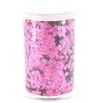 Pot de paillettes holographiques, rose