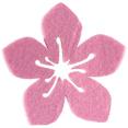 Hibiscus en feutrine, rose