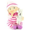 Figurine de fillette, pyjama rose