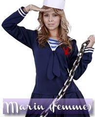 Déguisement de femme marin