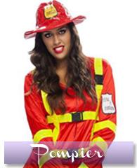 Déguisement de femme pompier sexy