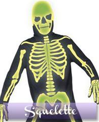 Déguisement squelette phosphorescen