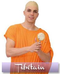 Déguisement de moine tibétain