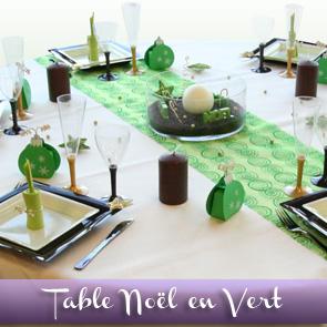 Décoration de table Noël / Nouvel an : la vie en vert !