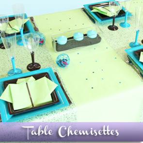 Décoration de table vert et turquoise