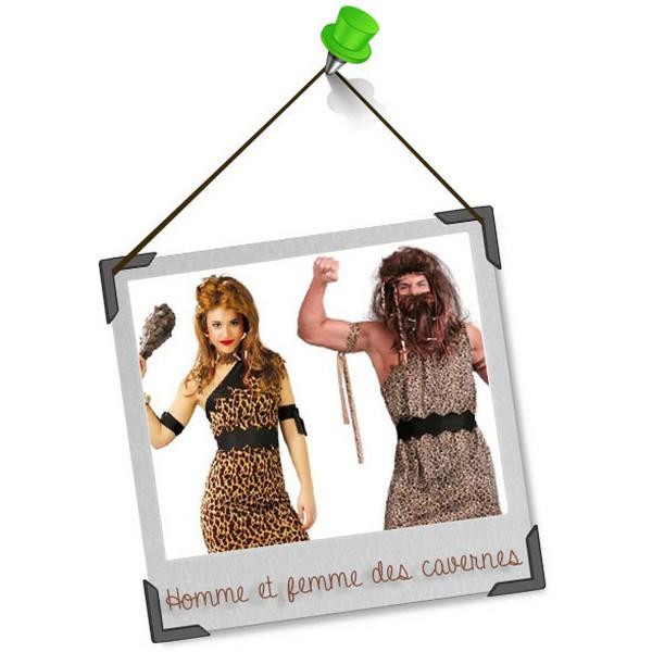 Se déguiser en duo : l'homme et la femme des cavernes