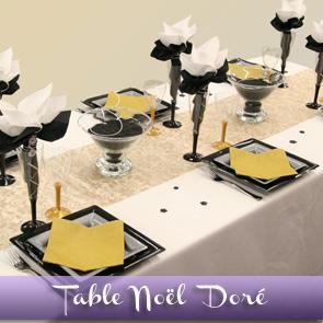 Décoration de table, un Noël en or !
